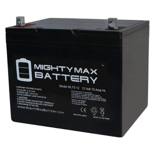 12V 75Ah SLA Battery for Wayne ESP25 Best AGM Battery