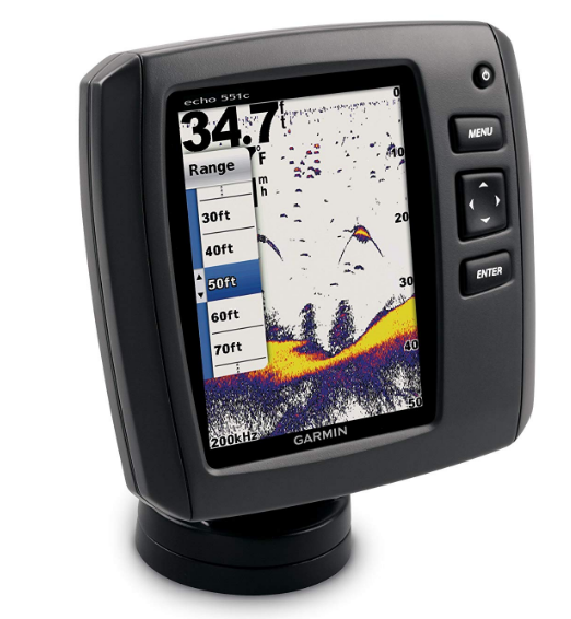 Garmin Echo 551dv Worldwide with Transducer Best Depth Finder