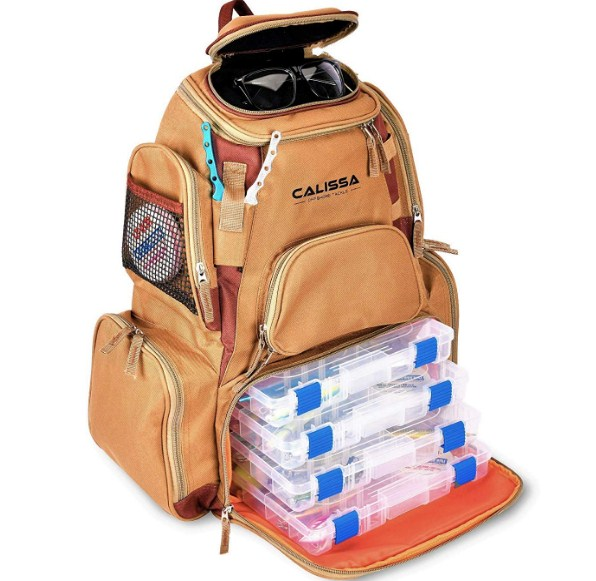 Calissa Offshore Blackstar Tackle Best Fishing Backpack