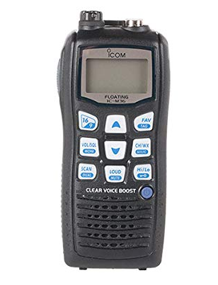 Icom M36 01 Floating Handheld 6W Marine Radio with Clear Voice Audio