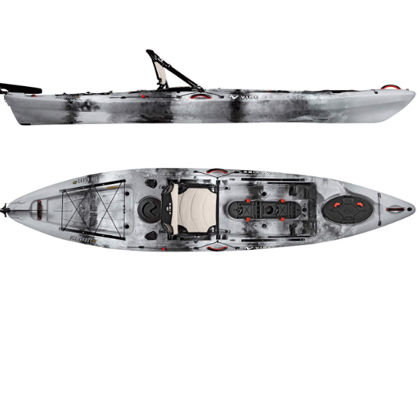 Vibe Foot Angler Sit Sea 130 Ghost Best Kayaks for Fly Fishing